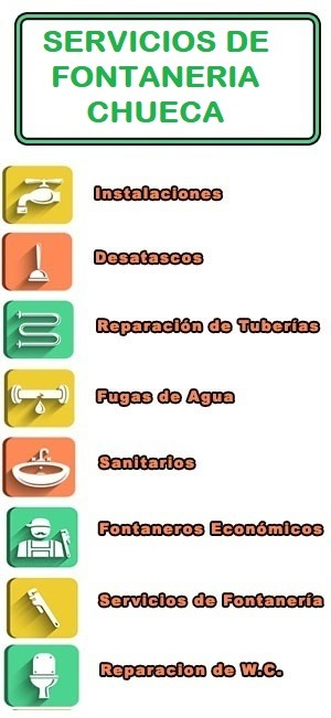 servicios de fontaneria en Chueca